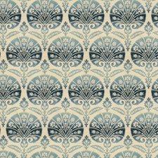 Blue Topaz Medallion Decorator Fabric by Stroheim