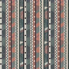 Coral Teal Global Decorator Fabric by Stroheim