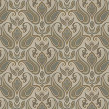 Olive Paisley Decorator Fabric by Trend