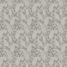 Ice Blue Jacquard Pattern Decorator Fabric by Trend