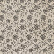 Black Floral Decorator Fabric by Fabricut