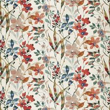 Poppy Floral Decorator Fabric by Vervain