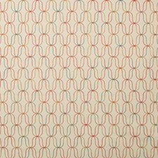 Neutral/Red/Yellow Geometric Decorator Fabric by Kravet