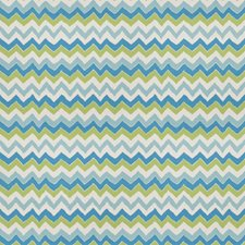 Turquoise Lime Print Pattern Decorator Fabric by Stroheim
