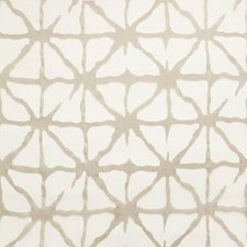 White/Taupe Geometric Decorator Fabric by Kravet