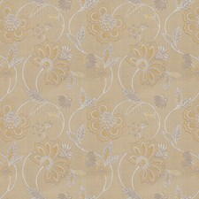 Gold Floral Decorator Fabric by Trend