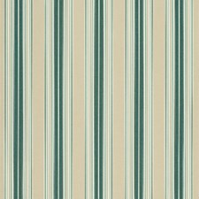 Forest Green/Beige/Nat Fancy Stripe Decorator Fabric by Sunbrella