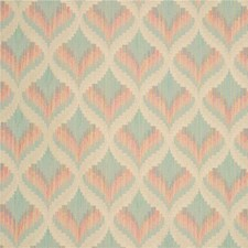 Rust/Light Green Bargellos Decorator Fabric by Kravet