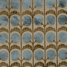 Mosaic Blue Novelty Decorator Fabric by Vervain