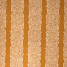 Pumpkin Floral Decorator Fabric by Vervain