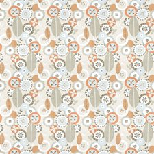 Terra Cotta Floral Decorator Fabric by Vervain