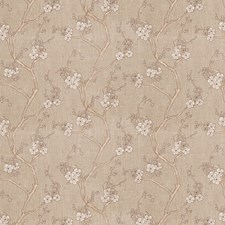 Latte Linen Embroidery Decorator Fabric by Fabricut