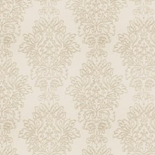 White Silver Embroidery Decorator Fabric by Fabricut