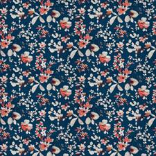 Navy Floral Decorator Fabric by Trend