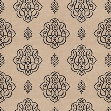 Navy Print Pattern Decorator Fabric by Trend