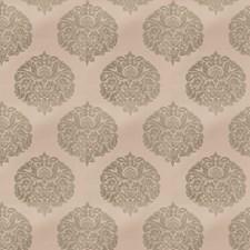 Blue Silver Damask Decorator Fabric by Stroheim