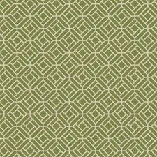 Grass Green Geometric Decorator Fabric by Stroheim