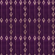 African Violet Geometric Decorator Fabric by S. Harris