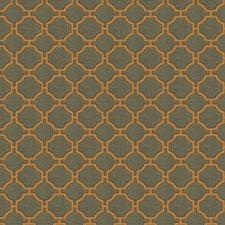 Tangerine Geometric Decorator Fabric by Fabricut