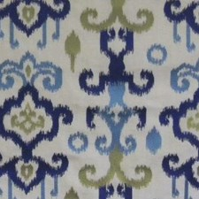 Navy/teal/celer Decorator Fabric by B. Berger