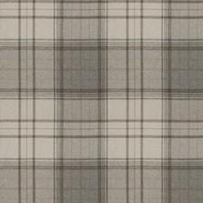 Grey Check Decorator Fabric by Stroheim