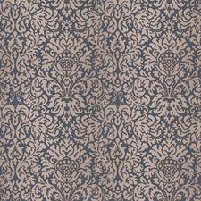 Cvatalina Blue Damask Decorator Fabric by Vervain