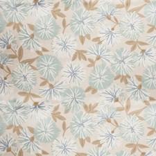 Aqua Floral Decorator Fabric by Trend