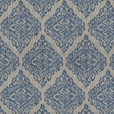 Navy Medallion Decorator Fabric by Trend