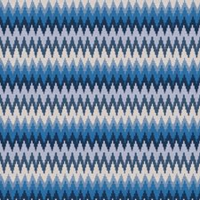 Blue Flamestitch Decorator Fabric by Fabricut