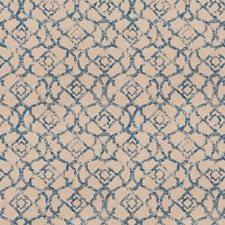Cobalt Lattice Decorator Fabric by Trend