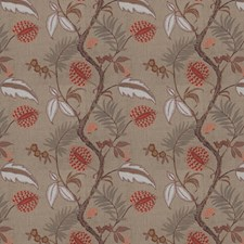 Coral Embroidery Decorator Fabric by Stroheim