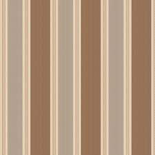 Ash Brown Stripes Decorator Fabric by Stroheim