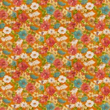 Persimmon Floral Decorator Fabric by Trend