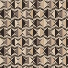 Graphite Geometric Decorator Fabric by Trend