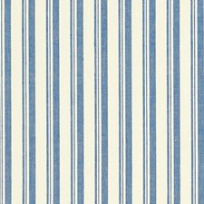 Navy/White Decorator Fabric by Schumacher