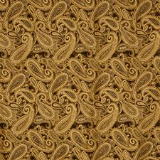 Caramel Paisley Decorator Fabric by Trend