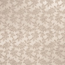 Taupe Leaves Decorator Fabric by Trend
