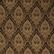 Chocolate Damask Decorator Fabric by Trend