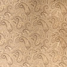 Camel Paisley Decorator Fabric by Trend