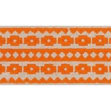Orange On Natural Trim by Schumacher