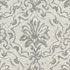 Pewter Damask Decorator Fabric by Duralee