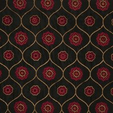 Cranberry Embroidery Decorator Fabric by Trend