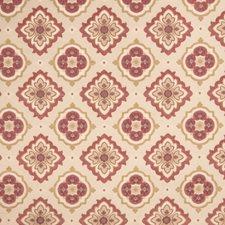 Crimson Medallion Decorator Fabric by Trend