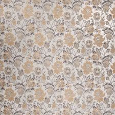 Latte Floral Decorator Fabric by Trend