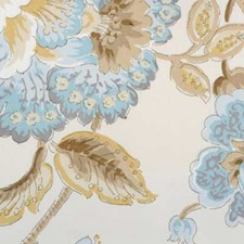 Natural/blue Decorator Fabric by B. Berger