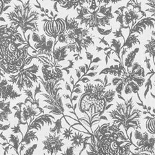 Charcoal Floral Medium Decorator Fabric by Duralee