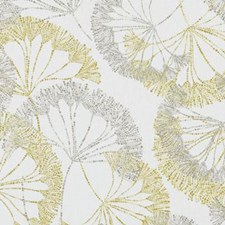 Yellow Floral Large Decorator Fabric by Duralee