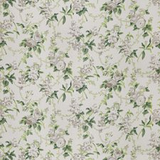 Green Grey Floral Decorator Fabric by Stroheim