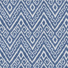 Navy Flamestitch Decorator Fabric by Trend