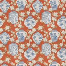 Pumpkin Asian Decorator Fabric by Trend